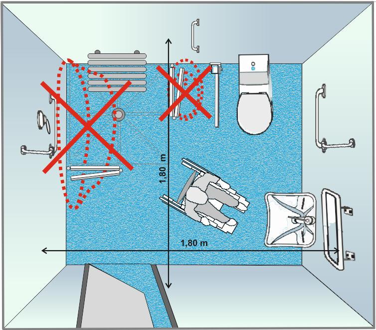 Bagni per disabili e anziani - Misure bagno minimo ...